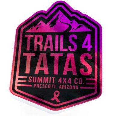 Trails 4 Tatas Pink Holographic Sticker